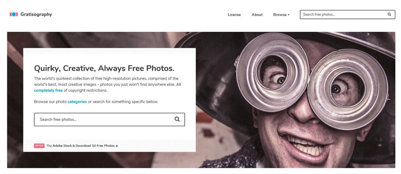 独創的なフリー写真素材を探せるGratisography