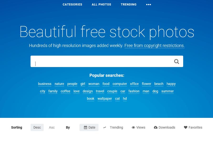 さらに細かいフリー写真素材検索エンジンStock Snap