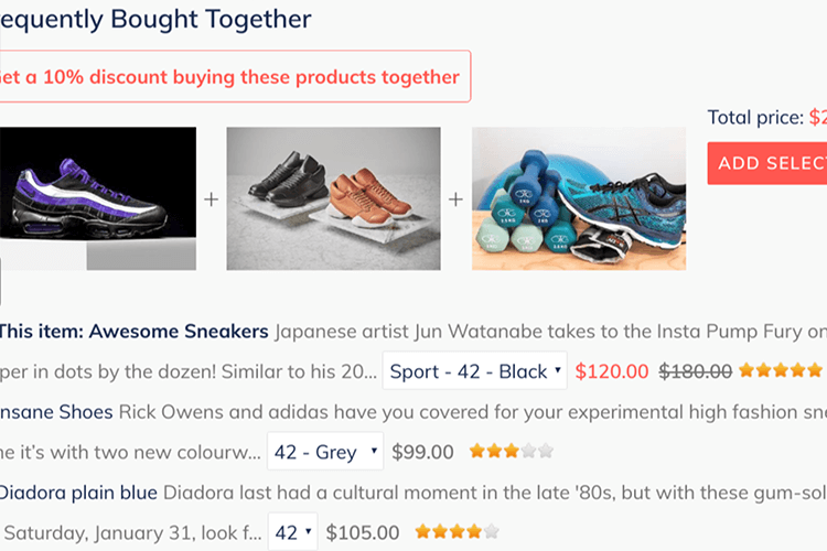 Shopifyアプリ「Frequently Bought Together」