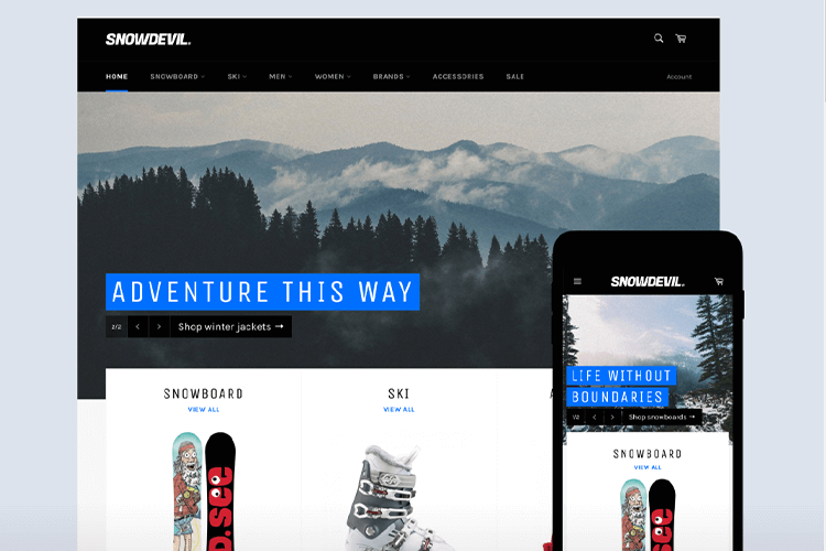 Shopify公式テーマVenture